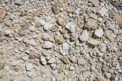 Πέτρινη σύσταση ή σύσταση βράχου στη φυσική θέση Στοκ Εικόνες