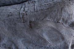 Πέτρινη σύσταση στο χιόνι και τον πάγο Τοίχος βουνών Σύσταση βράχου Στοκ Εικόνες