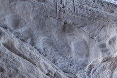 Πέτρινη σύσταση στο χιόνι και τον πάγο Τοίχος βουνών Σύσταση βράχου Στοκ Φωτογραφίες