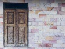 Πέτρινη σύσταση τοίχων του σπιτιού στο chiangmai Tha του χωριού επαρχίας Στοκ Εικόνα