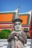 Πέτρινη φρουρά πυλών στη Μπανγκόκ, Ταϊλάνδη Στοκ Εικόνα