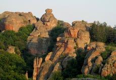 Πέτρινοι απότομος βράχος και βράχος σε Belogradchik, Βουλγαρία Στοκ εικόνες με δικαίωμα ελεύθερης χρήσης