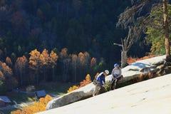 Πέτρινοι ορειβάτες κρατικών πάρκων βουνών Στοκ εικόνες με δικαίωμα ελεύθερης χρήσης