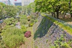 Πέτρινοι τοίχοι Marioka Castle, πόλη Marioka, Ιαπωνία Στοκ Εικόνες