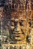 Πέτρινοι τοιχογραφίες και ναός Angkor Thom Bayon αγαλμάτων Angkor Wat Στοκ εικόνα με δικαίωμα ελεύθερης χρήσης