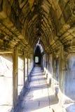Πέτρινος διάδρομος στο ναό Angkor Wat σύνθετο Στοκ φωτογραφία με δικαίωμα ελεύθερης χρήσης