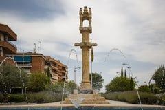 Πέτρινος κλοιός στο τετράγωνο ελευθερίας Torrijos στην πόλη στοκ εικόνα με δικαίωμα ελεύθερης χρήσης