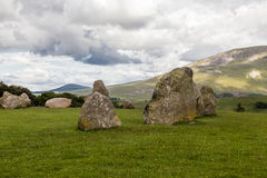Πέτρινος κύκλος Castlerigg, κοντά σε Keswick, Cumbria, Αγγλία στοκ φωτογραφία