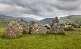Πέτρινος κύκλος Castlerigg, κοντά σε Keswick, Cumbria, Αγγλία στοκ φωτογραφίες με δικαίωμα ελεύθερης χρήσης
