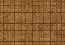 Πέτρινος-ξύλινο καφετί υπόβαθρο κεραμιδιών Στοκ Εικόνα
