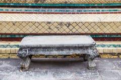 Πέτρινος πίνακας σε Wat Po Στοκ Εικόνες