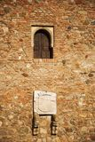 Πέτρινος σε Alcazaba στοκ φωτογραφία
