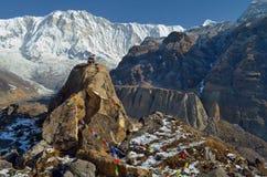 Πέτρινος τάφος ενός ορειβάτη στο στρατόπεδο βάσεων Annapurna Στοκ Εικόνες