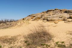 Πέτρινος τάφος επιφύλαξης τοπίων εθνικός-ιστορικός και αρχαιολογικός, Ουκρανία Στοκ Εικόνες