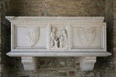 Πέτρινος τάφος στη βασιλική σε Aquileia Στοκ Εικόνες