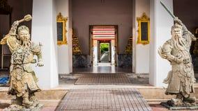 Πέτρινος Ταϊλανδός - κινεζικό γλυπτό ύφους και ταϊλανδική αρχιτεκτονική τέχνης στο ναό Wat Phra Chetupon Vimolmangklararm (Wat Ph Στοκ φωτογραφίες με δικαίωμα ελεύθερης χρήσης