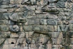 Πέτρινος τοίχος ανακούφισης Bas Angkor Στοκ φωτογραφίες με δικαίωμα ελεύθερης χρήσης