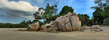 Πέτρινος τοίχος στην ακτή του νησιού Bintan Στοκ Εικόνα