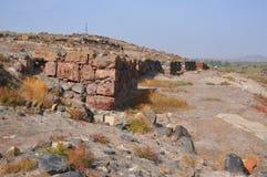 Πέτρινος τοίχος στην τακτοποίηση Metsamor _ Στοκ φωτογραφία με δικαίωμα ελεύθερης χρήσης