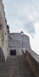 Πέτρινος τοίχος του κάστρου Στοκ εικόνα με δικαίωμα ελεύθερης χρήσης