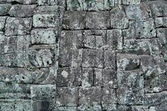 Πέτρινος τοίχος φραγμών Angkor Στοκ Εικόνες