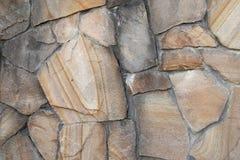 Πέτρινος υλικός, κατασκευασμένος, τοίχος Στοκ Εικόνες