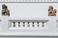 Πέτρινος φράκτης κιγκλιδωμάτων Στοκ εικόνες με δικαίωμα ελεύθερης χρήσης