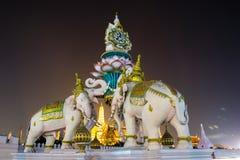Πέτρινο άγαλμα Μπανγκόκ ελεφάντων (Ταϊλάνδη) Στοκ φωτογραφία με δικαίωμα ελεύθερης χρήσης