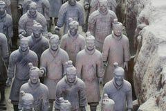 Πέτρινο άγαλμα soilders στρατού, στρατός τερακότας σε Xian, Κίνα Στοκ Φωτογραφία