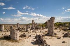 Πέτρινο δάσος, Βάρνα, Βουλγαρία, kamani Pobiti, φαινόμενο βράχου Στοκ Φωτογραφία