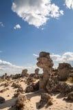 Πέτρινο δάσος κοντά στη Βάρνα, Βουλγαρία, kamani Pobiti, φαινόμενο βράχου Στοκ Εικόνα