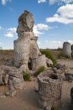 Πέτρινο δάσος κοντά στη Βάρνα, Βουλγαρία, kamani Pobiti, φαινόμενο βράχου Στοκ Φωτογραφία