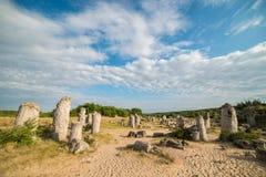 Πέτρινο δάσος (Pobiti Kamani) στη Βουλγαρία Στοκ εικόνα με δικαίωμα ελεύθερης χρήσης