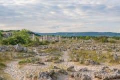 Πέτρινο δάσος (Pobiti Kamani) στη Βουλγαρία Στοκ φωτογραφίες με δικαίωμα ελεύθερης χρήσης