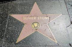 Πέτρινο αστέρι του Oliver στη λεωφόρο Hollywood, Λος Άντζελες στοκ φωτογραφία
