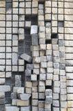 Πέτρινο γλυπτό κύβων Στοκ εικόνες με δικαίωμα ελεύθερης χρήσης