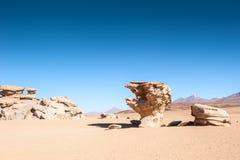 Πέτρινο δέντρο Arbol de Piedra, Altiplano, Βολιβία Στοκ φωτογραφία με δικαίωμα ελεύθερης χρήσης