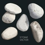 Πέτρινο διάνυσμα, σύνολο διανυσματικού Stone για το σχέδιο Διακοσμητική παραγωγή καρτών, γαμήλια πρόσκληση και περισσότεροι διανυσματική απεικόνιση