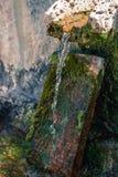 Πέτρινο ελατήριο πηγής νερού πηγών Στοκ Εικόνα