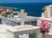 Πέτρινο ελληνικό νεκροταφείο Στοκ Φωτογραφία