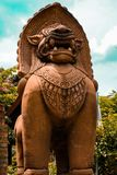 Πέτρινο λιοντάρι Sculture στοκ φωτογραφίες