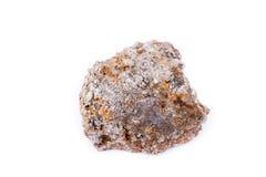 Πέτρινο μακρο μετάλλευμα arsenopyrite σε ένα άσπρο υπόβαθρο Στοκ Εικόνες