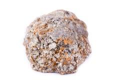 Πέτρινο μακρο μετάλλευμα arsenopyrite σε ένα άσπρο υπόβαθρο Στοκ Φωτογραφίες