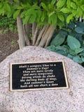 Πέτρινο μνημείο Λίνκολν Patk Στοκ Φωτογραφία