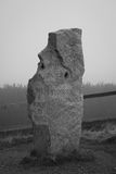 Πέτρινο μνημείο στο πέρασμα βουνών Στοκ φωτογραφίες με δικαίωμα ελεύθερης χρήσης