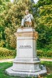 Πέτρινο μνημείο του Pietro Paleocapa Στοκ εικόνες με δικαίωμα ελεύθερης χρήσης
