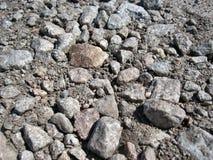 Πέτρινο οδικό υπόβαθρο Αμμοχάλικο στοκ εικόνες