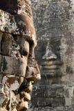 Πέτρινο πρόσωπο σε Bayon Templex Στοκ Φωτογραφία