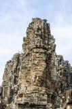 Πέτρινο πρόσωπο στο ναό Bayon σε Angkor Wat, Καμπότζη Στοκ φωτογραφίες με δικαίωμα ελεύθερης χρήσης