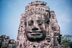 Πέτρινο πρόσωπο στο ναό Bayon, Angkor στοκ εικόνες με δικαίωμα ελεύθερης χρήσης